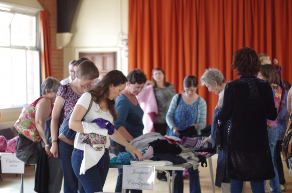 Clothes giveaway and free lunches for local families